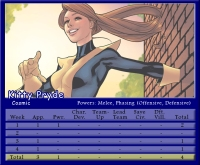 Kitty Pryde Stat Card