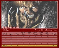 Sabretooth Stat Card