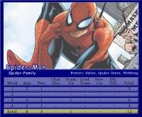 Spider-Man Stat Card