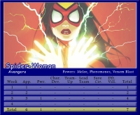 Spider-Woman Stat Card