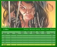 X-23 Stat Card